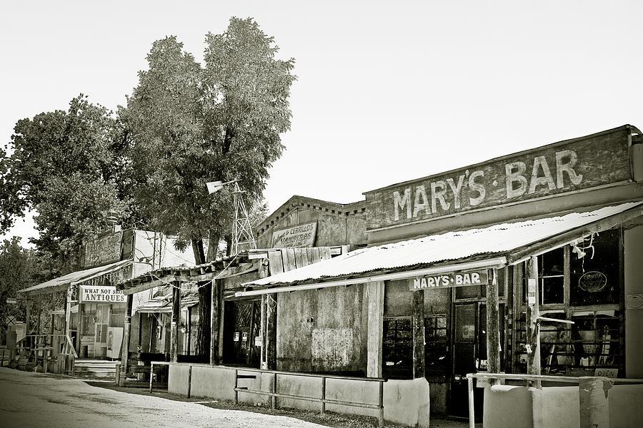 Black Photograph - Marys Bar Cerrillo Nm by Christine Till