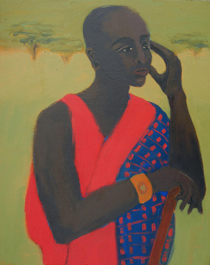 Africa Painting - Masaii Warrior by Renee Kahn