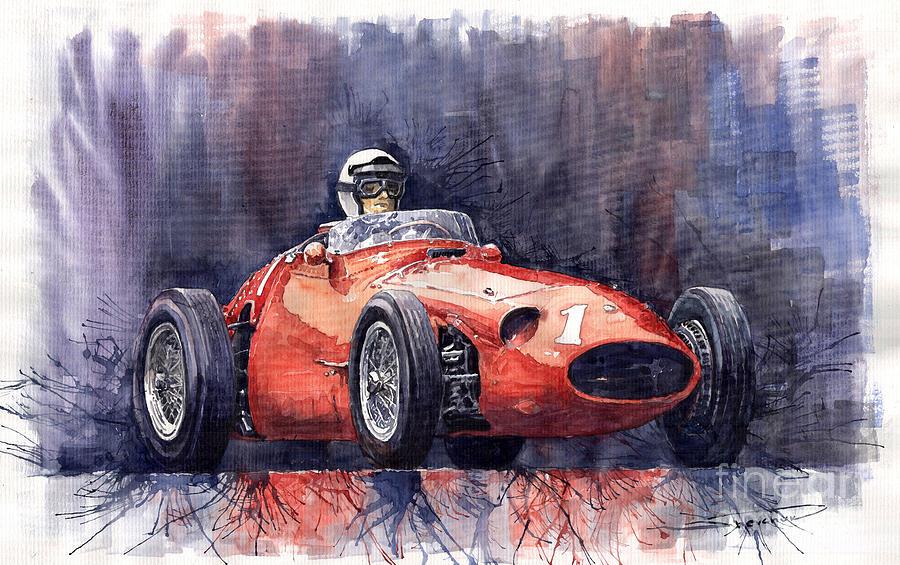 Avto Painting - Maserati 250f by Yuriy  Shevchuk
