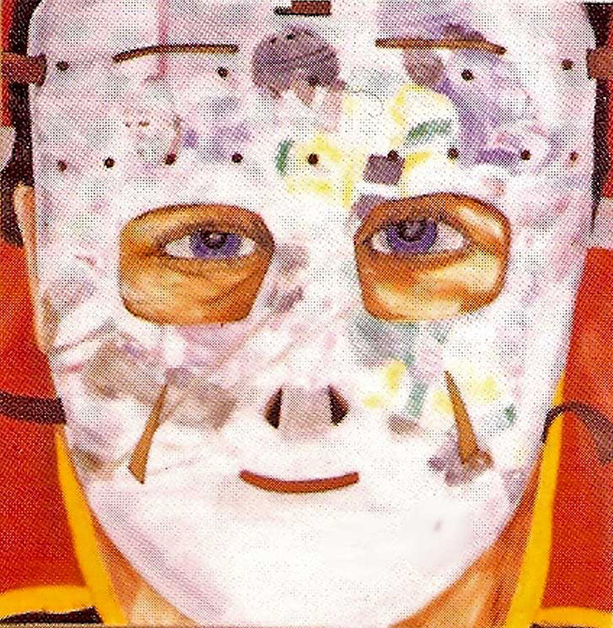 Hockey Painting - Mask Refection by Ken Yackel