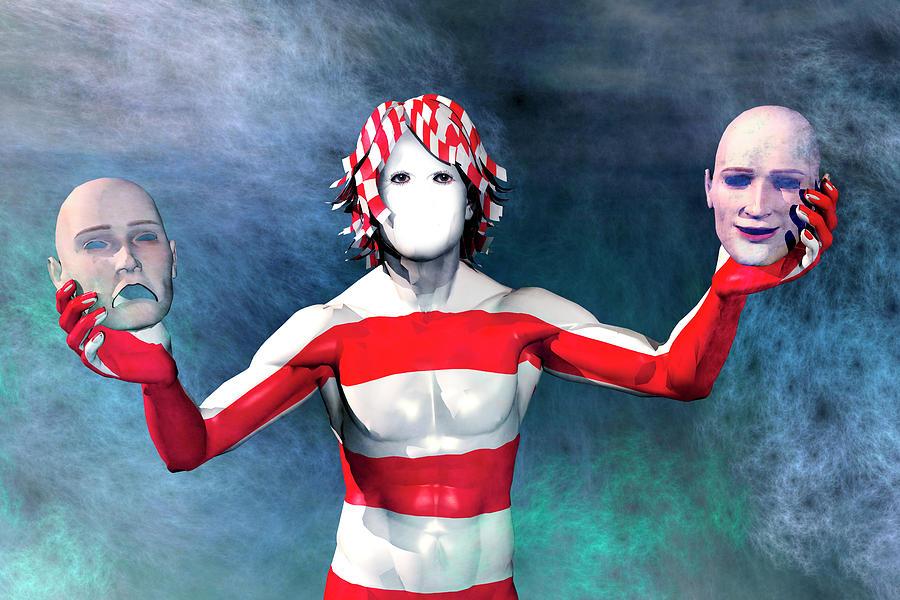 Mask Digital Art - Masks by Carol and Mike Werner