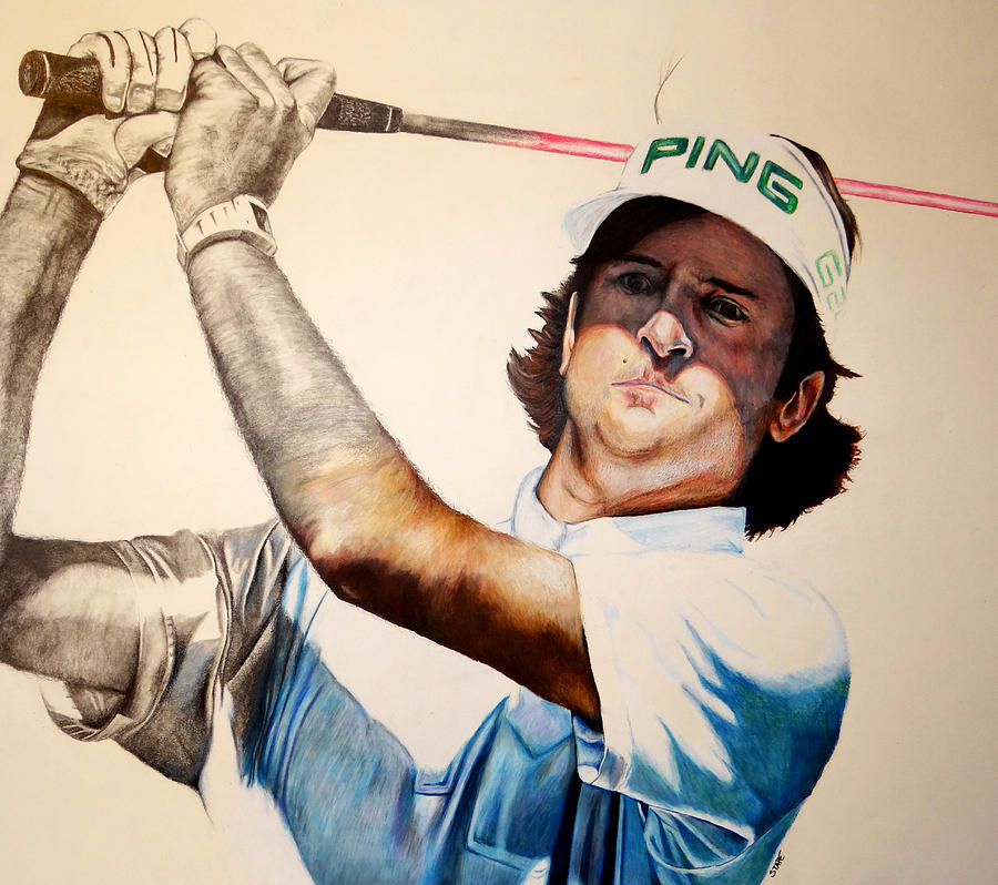Golf Drawing - Masters Champ by Jake Stapleton