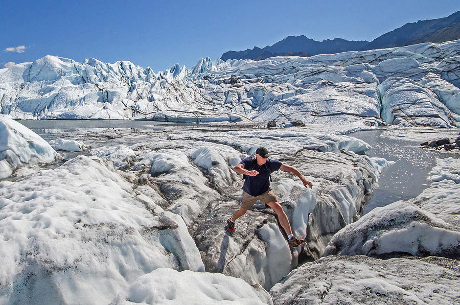 Matanuska glacier crevasse jumper photograph by rocky grimes for Best places to travel in october in the us