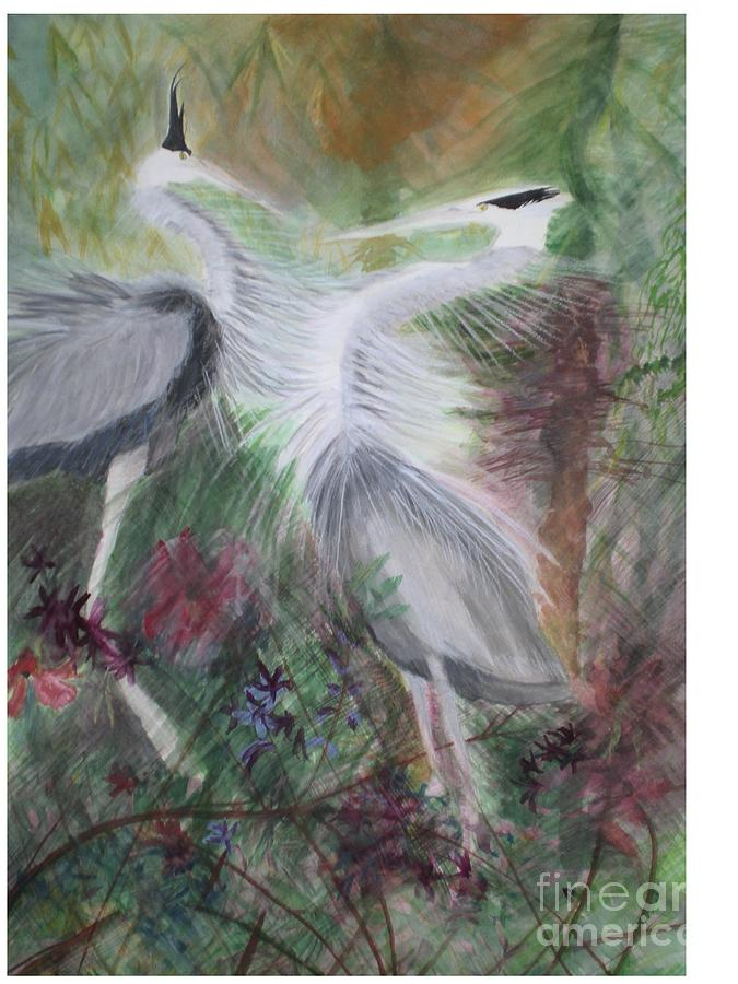 Birds Painting - Match To Mate by Hal Newhouser