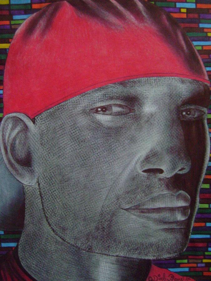 Portrait Celebrity Glass Art - Mathew by Odinel Pierre    junior