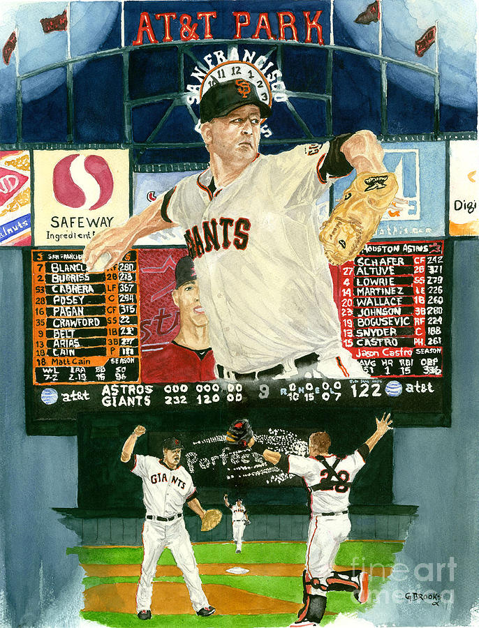 Matt Cain Painting - Matt Cain Perfect Night by George  Brooks