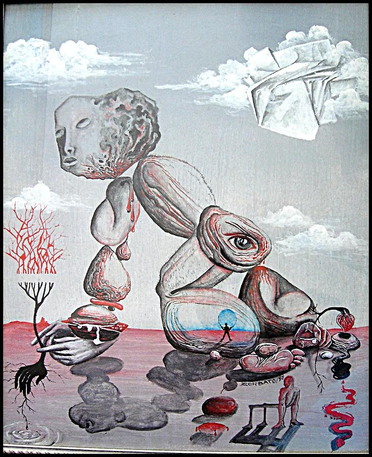 Surrealism Painting - Matter by Paulo Zerbato