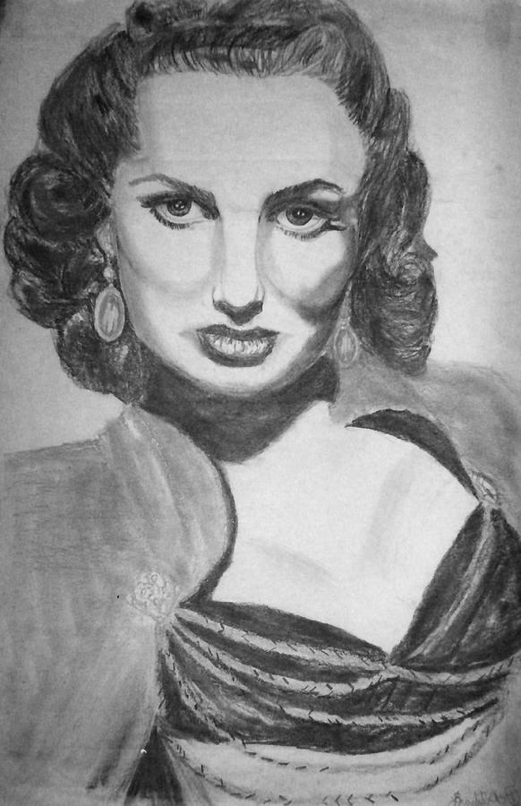 Graphite Drawing - Maureen Ohera by Scarlett Royal