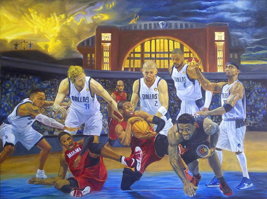Mavs Painting - Mavericks Defeat The King And His Court by Luis Antonio Vargas