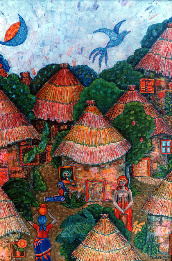 Africa Painting - Maybe That Was My Country by Madalena Lobao-Tello