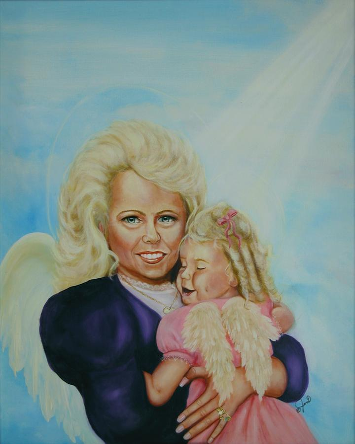 Angel Painting - Me And Me by Joni McPherson