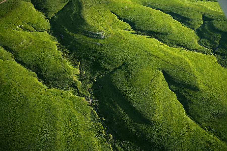 Outdoors Photograph - Meandering Valleys Of Texaco Hill by Jim Richardson