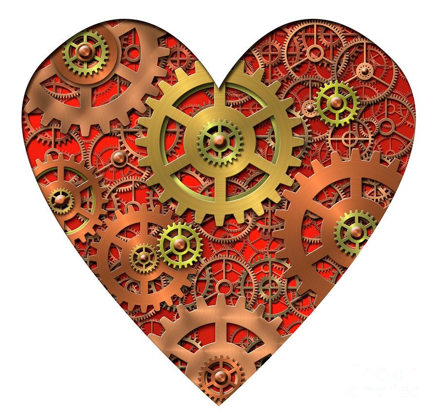 Mechanical Heart Digital Art