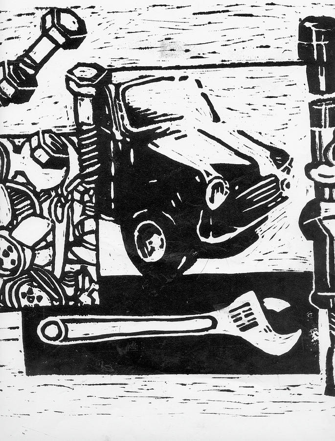 Mechanical Linoprint Relief