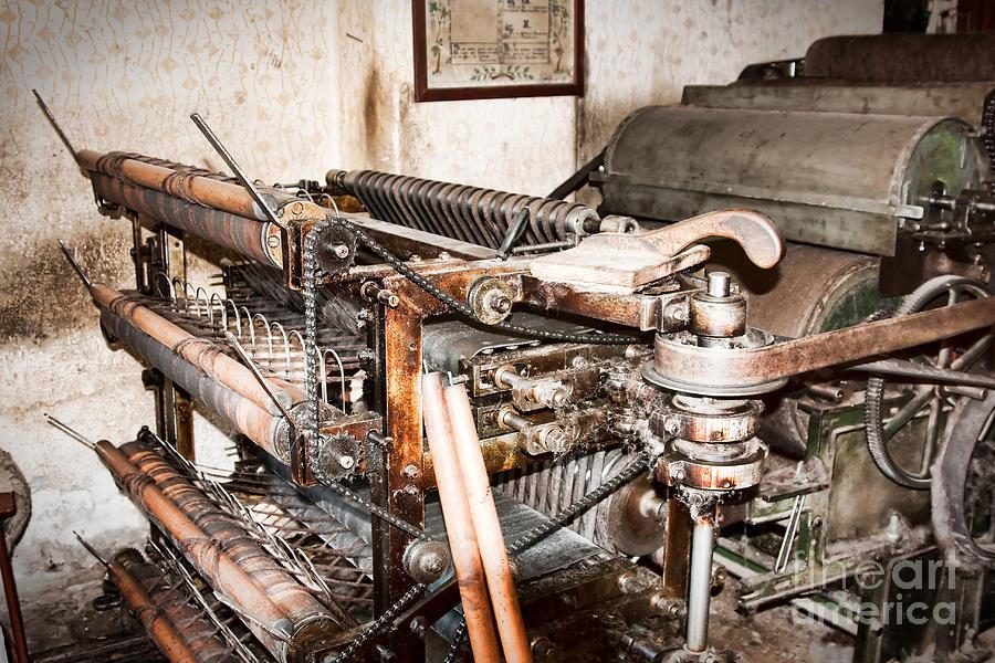 Machinery Photograph - Mechanism by Gabriela Insuratelu