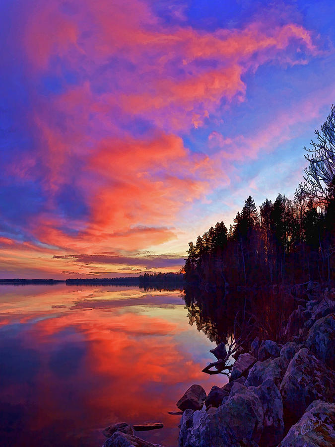 Nature Photograph - Meddybemps Reflections 9 by Bill Caldwell -        ABeautifulSky Photography
