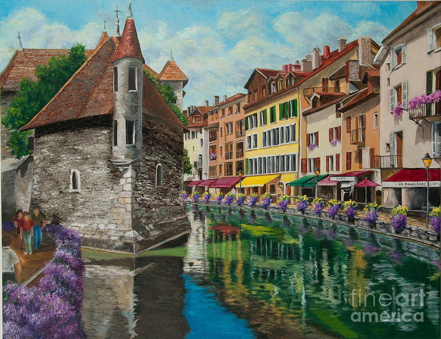 Annecy France Art Painting - Medieval Jail In Annecy by Charlotte Blanchard