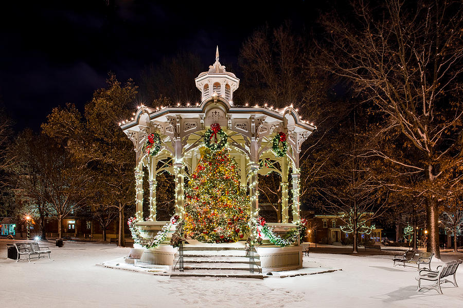 Medina 2014 Christmas Gazebo is a photograph by Frank Cramer which was ...