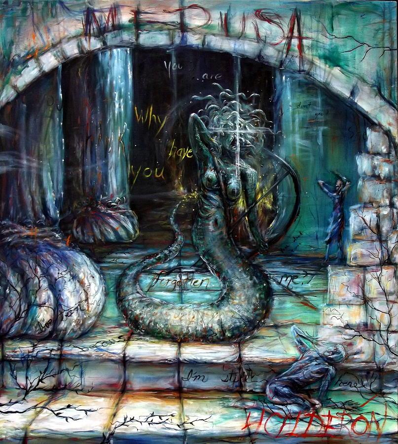 Medusa Painting - Medusa by Heather Calderon