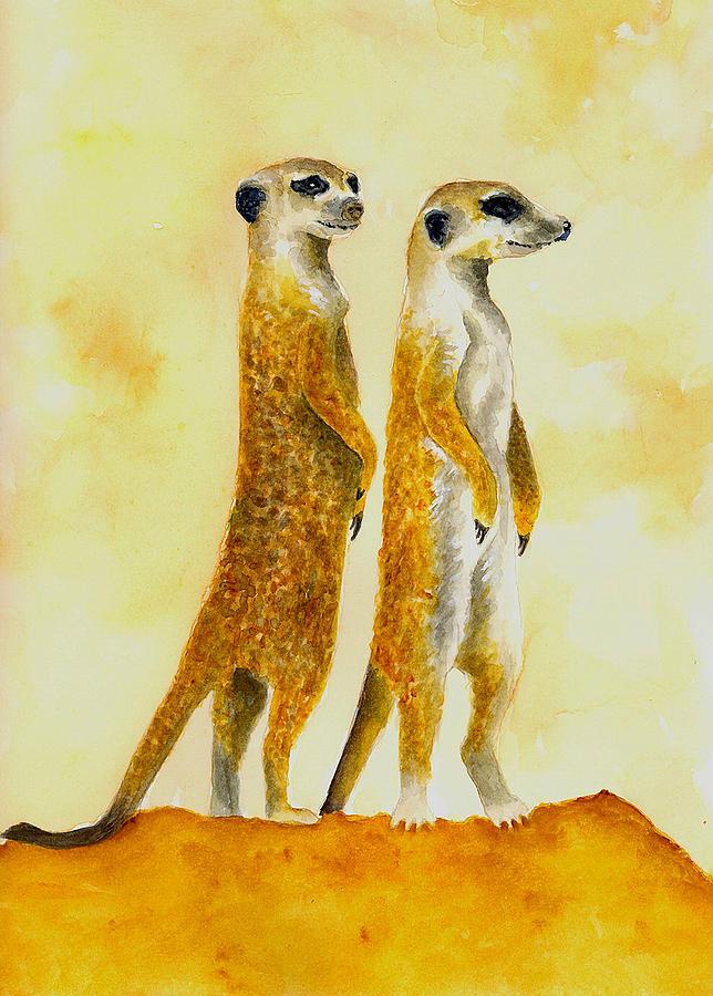 Meerkats Painting