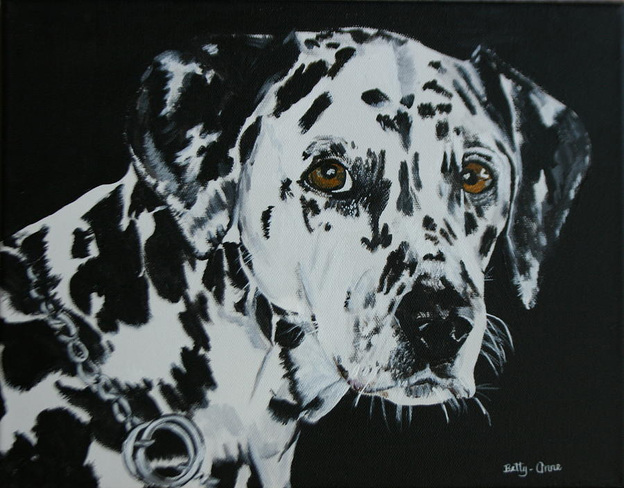 Done By Request From My Sister-in-law...she Is Going To Give This Painting To Her Niece Who Is The Owner Of Annie. Painting - Meet Annie by Betty-Anne McDonald