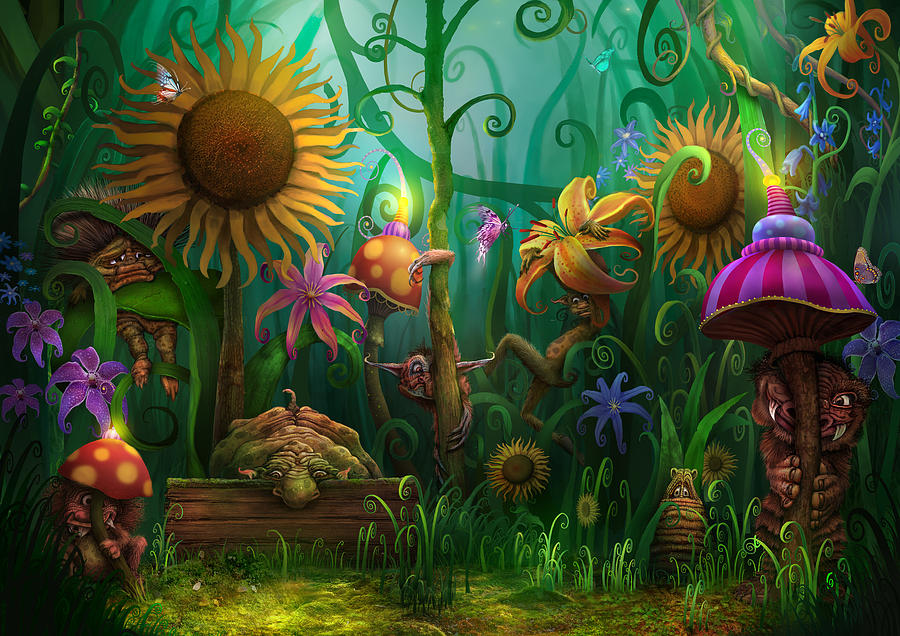 Enchanted Forest Painting - Meet The Imaginaries by Philip Straub