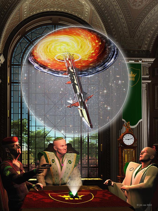 Jim Coe Digital Art - Meeting At The Papal Residence by Jim Coe