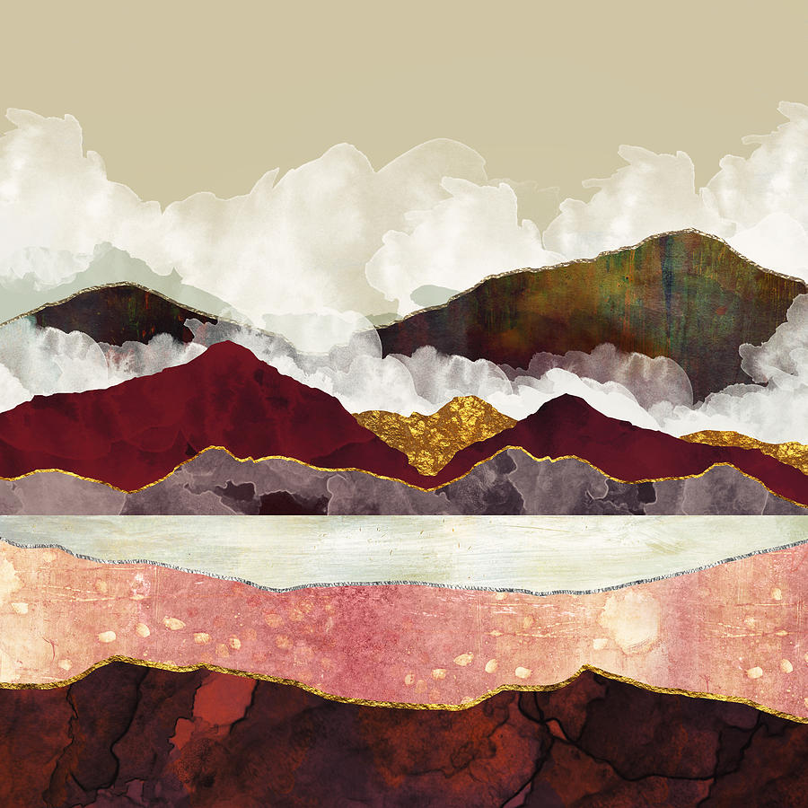 Melon Mountains Digital Art