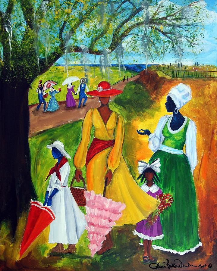 Gullah Painting - Memorial Day by Diane Britton Dunham