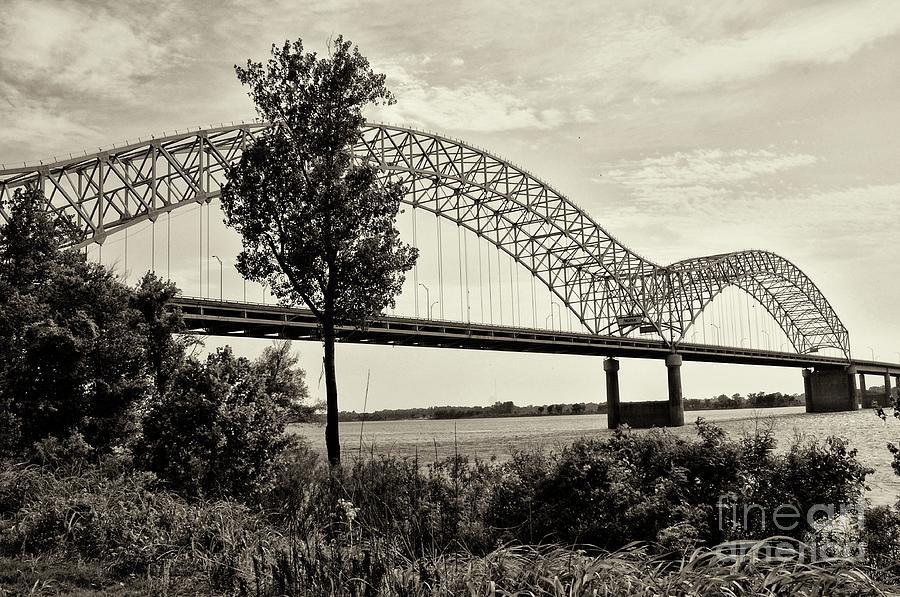 Miguel Celis Photograph - Memphis Bridge 1 by Miguel Celis