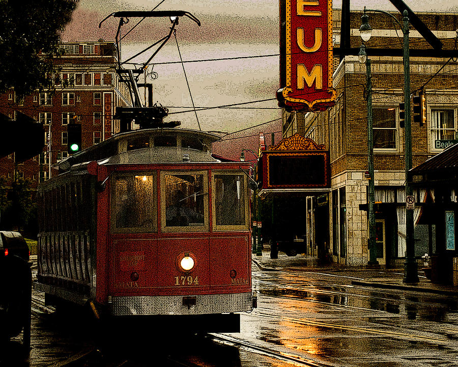 Memphis Photograph - Memphis Tennissee Streetcar by Don Wolf