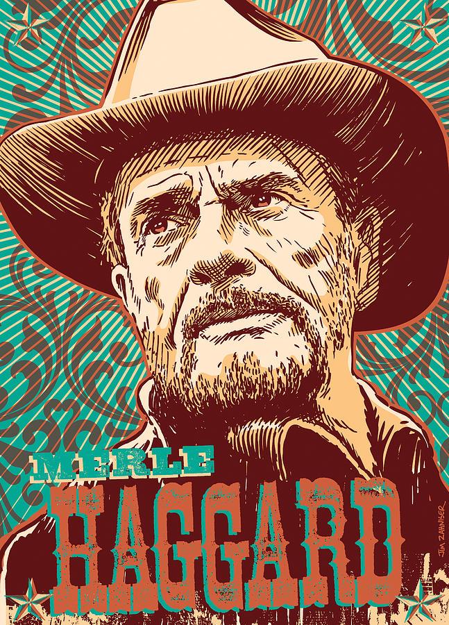 Merle Haggard Pop Art Digital Art By Jim Zahniser