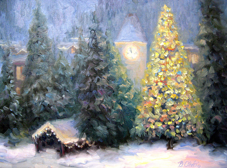 Oil Painting Of Christmas