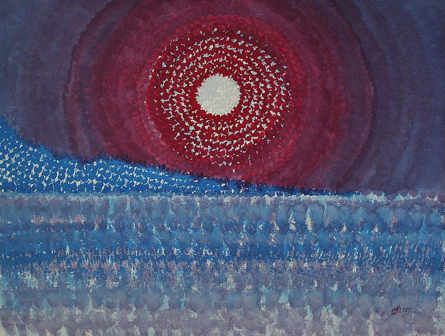 Mesa Moon Original Painting Painting