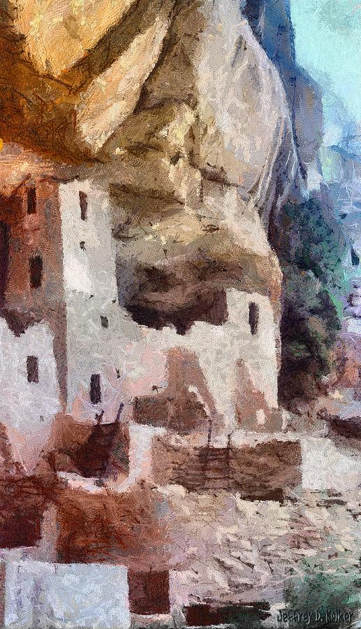 American Southwest Painting - Mesa Verde by Jeff Kolker
