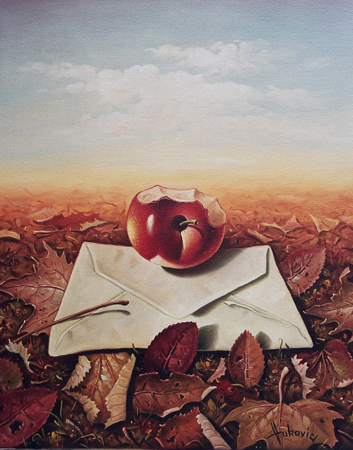 Still Life Painting - Message by Dusan Vukovic