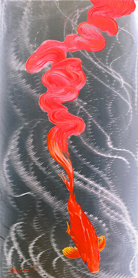 Metal art print on aluminum koi fish art on metal for Koi fish paintings prints
