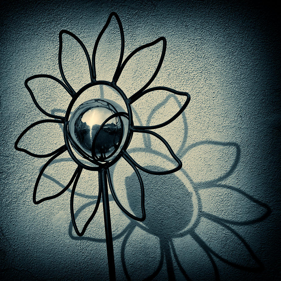 Sunflower Photograph - Metal Flower by Dave Bowman