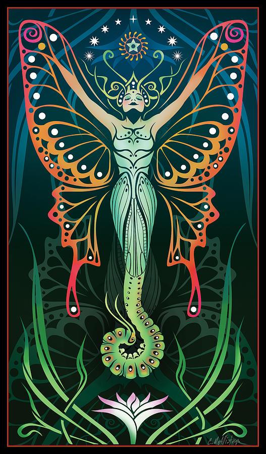 Art Nouveau Digital Art - Metamorphosis by Cristina McAllister