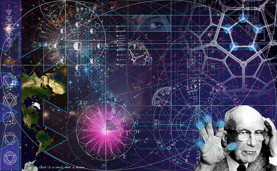 Buckminster Fuller Digital Art - Metaphysical Gravity by Kenneth Armand Johnson