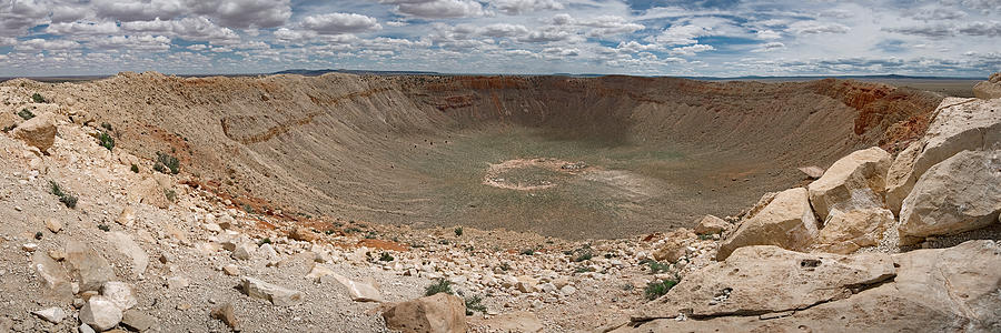 Crater Photograph - Meteor Crater by Ryan Heffron