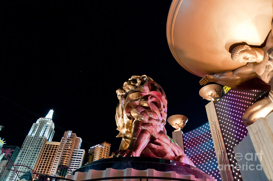 Las Vegas Photograph - Metro At Night by Andy Smy