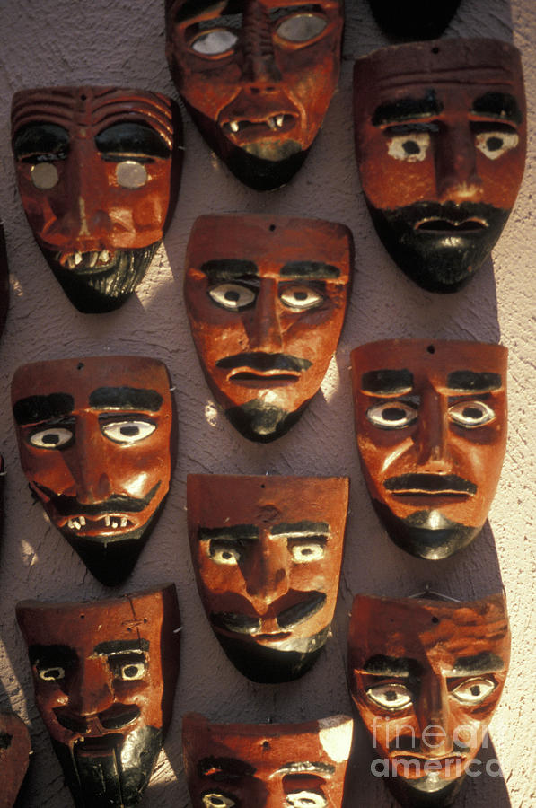 Mexico Photograph - Mexican Devil Masks by John  Mitchell
