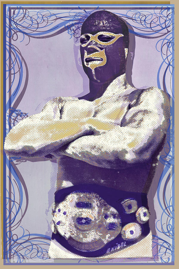 Mexican Wrestler Lucha Libre Painting by Tony Rubino