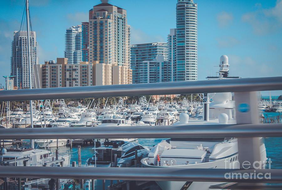 Florida Photograph - Miami Marina by Claudia M Photography