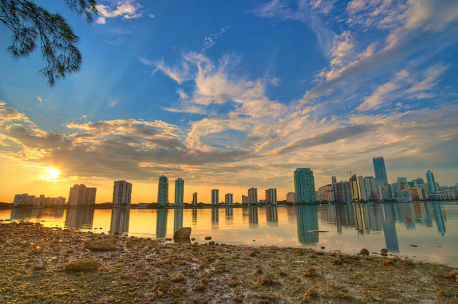 Miami Photograph - Miami Sunset by William Wetmore