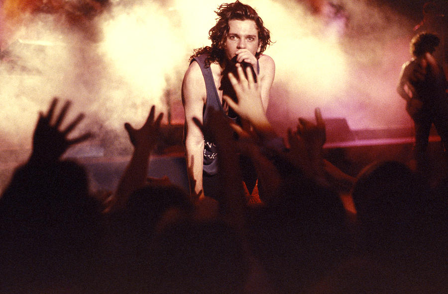Michael Hutchence Photograph - Michael Hutchence And Inxs 1985 by Sean Davey