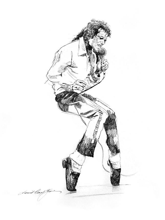 Michael Jackson Drawing - Michael Jackson - King Of Pop by David Lloyd Glover