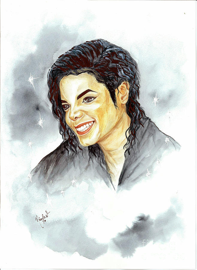 Michael Jackson Painting - Michael Jackson - Smile by Nicole Wang