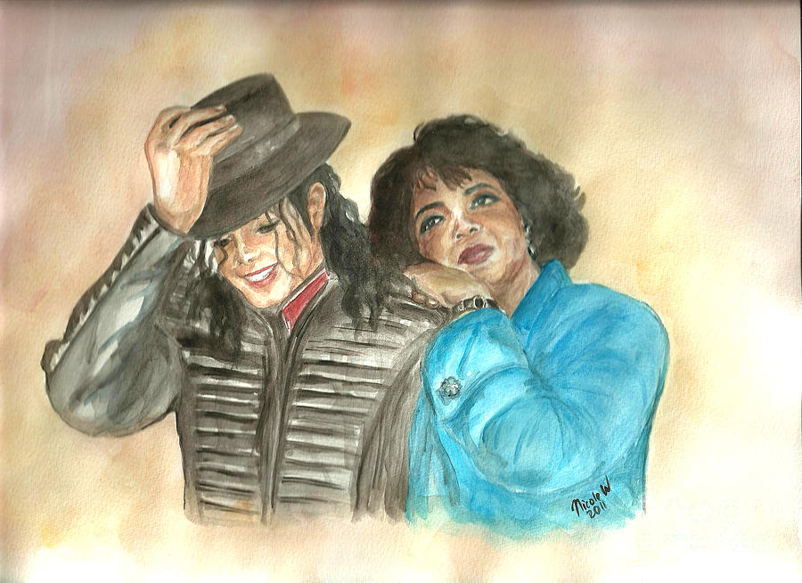 Michael Jackson And Oprah Painting